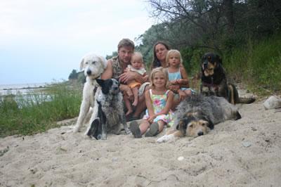 Ostsee 2013 - unsere 7jährige machte das Foto am Strand, daher nicht auf dem Bild…